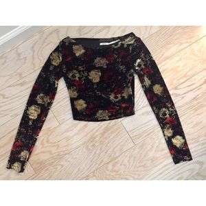 Urban Outfitters Velvet Crop